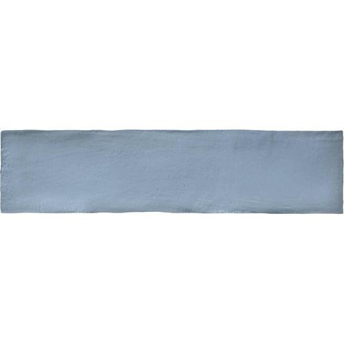 Wandtegel Colonial Sky Mat 7.5x30 cm Mat Licht Blauw (doosinhoud 0.5 m2)