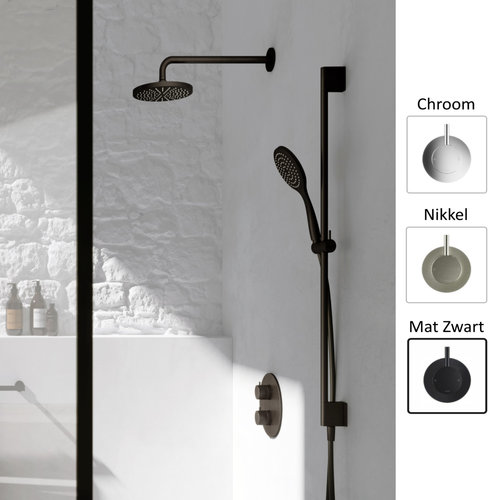 Regendoucheset Hotbath Cobber Thermostatische Inbouwset Mat Zwart