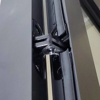 Aqua Splash Douchecabine Frame 90x110 cm 8 mm NANO Glas Mat Zwart Raster