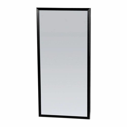 Spiegel Topa Silhouette 40x80x2.5 cm Aluminium Zwart