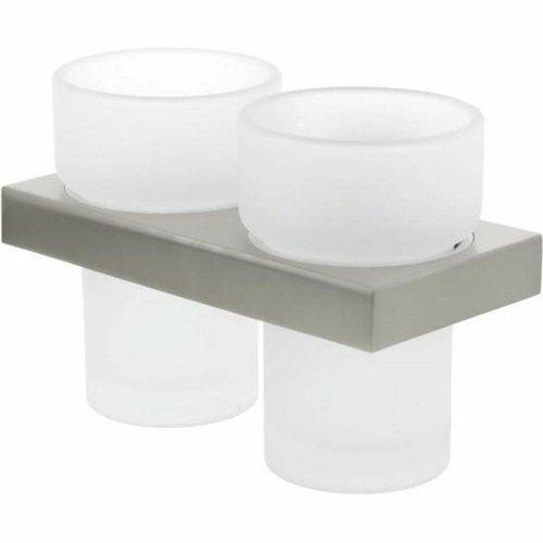 Bekerhouder Tiger Items Dubbel Mat Glas RVS