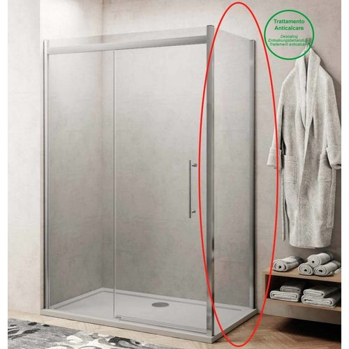 Zijwand voor Douchecabine Lacus Procida 75x210 cm 8 mm Nano Glas