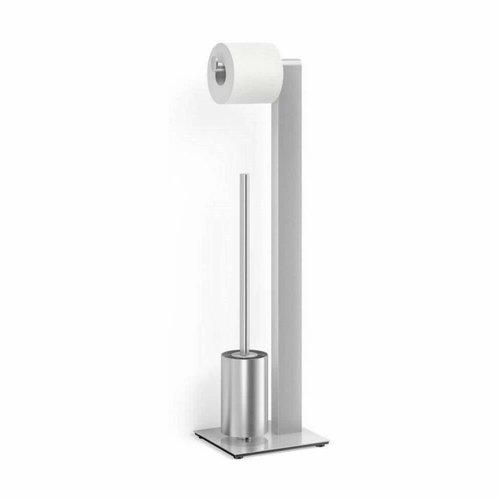 Toiletbutler Zack Atore 18x20x72 cm Geborsteld RVS