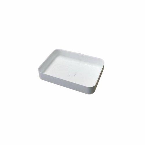 Opbouw Waskom Best Design Just Solid Surface Dipsy 55x40 cm Mat Wit