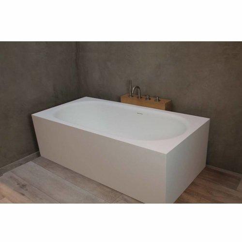 Vrijstaand Bad Luca Sanitair Vasca 170x83x54,5cm Vierkant Solid Surface Mat Wit