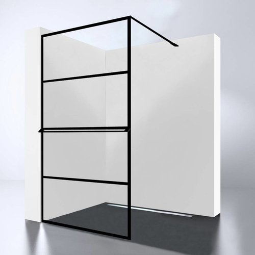 Inloopdouche Best Design Noire 140x200cm 10mm Easy Clean Mat Zwart
