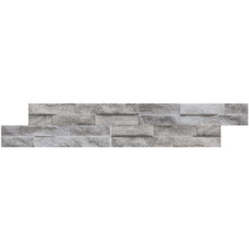 Wandtegel Rock Grey 7,5x38,5 (Doosinhoud 0,75 M²)