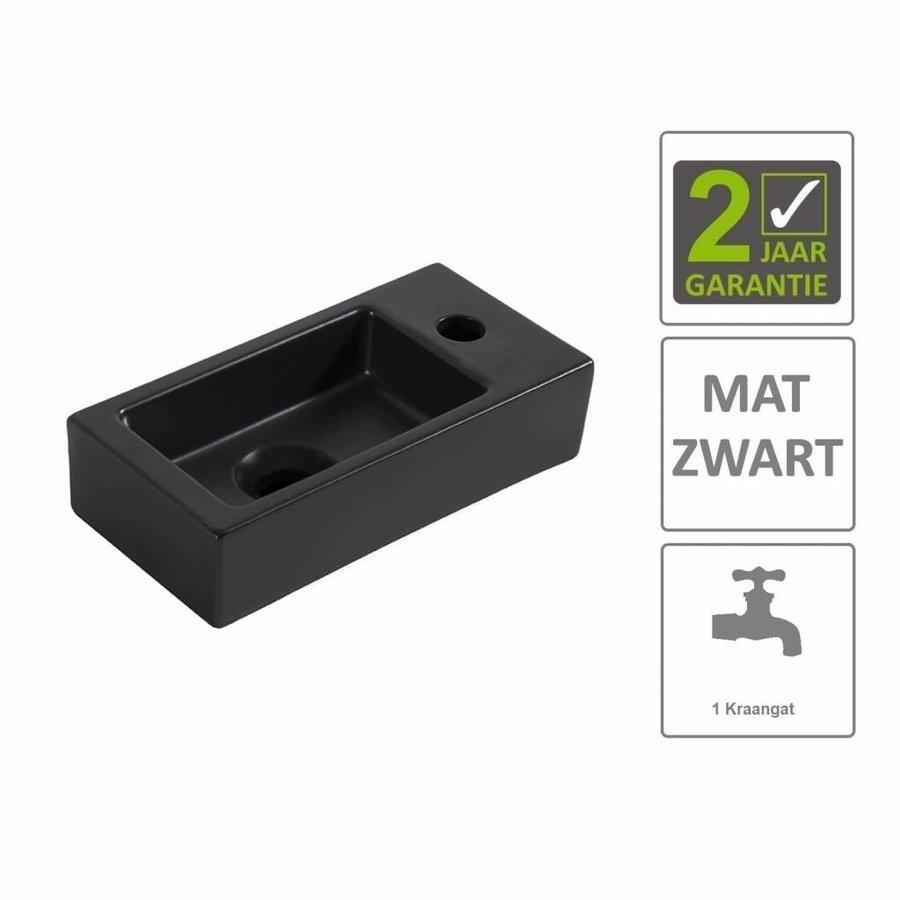 AQS Fontein Rino Mini Rechts 36x18x9 cm Mat Zwart