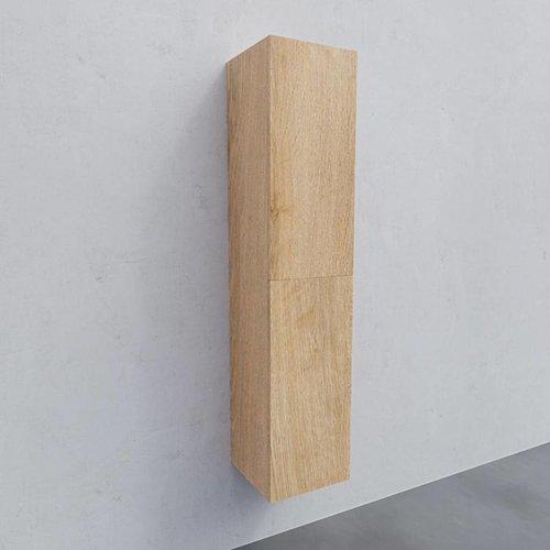 Kolomkast AQS Warschau 160x35x35cm MDF Omkeerbaar Wood Washed Oak