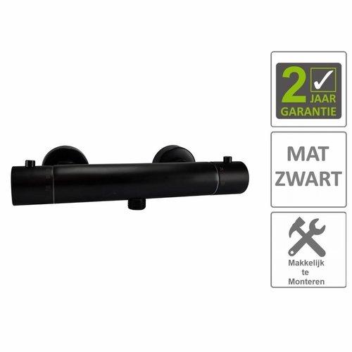 AQS Douchemengkraan Thermostatische Janero Mat Zwart