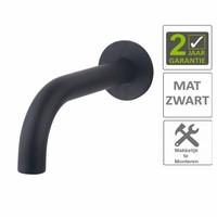 AQS Uitloop Inbouw Rond 20 cm Mat Zwart