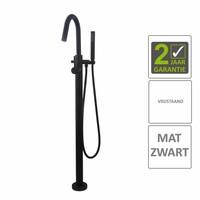 AQS Badkraan Cemal Vrijstaand Mengkraan Compleet Mat Zwart
