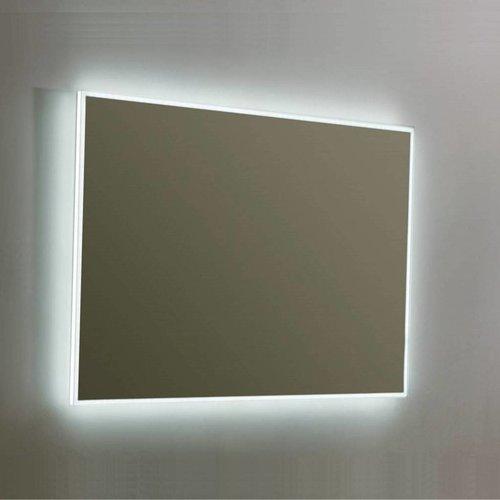 Spiegel Sanilux Mirror Infinity 80x70x4,5 cm Aluminium met LED Verlichting en Spiegelverwarming