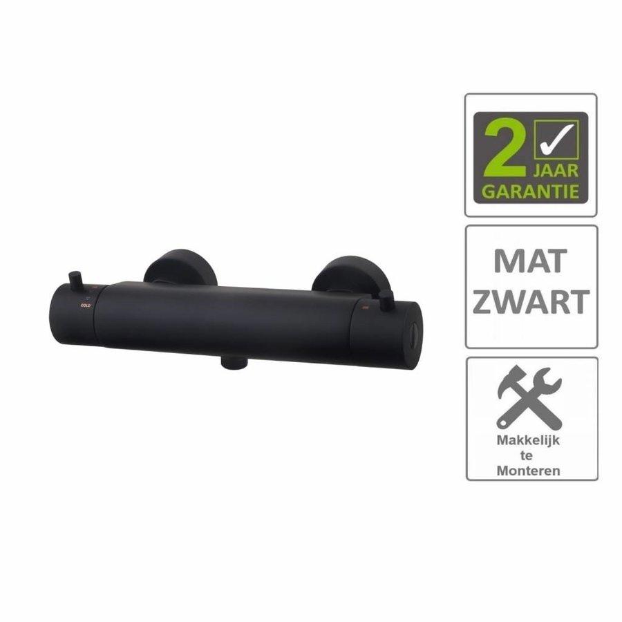 AQS Thermostaatkraan Douche Cool Touch Mat Zwart