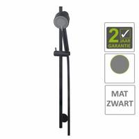AQS Glijstangset Codos Luxe Compleet Met Handdouche En Doucheslang Mat Zwart
