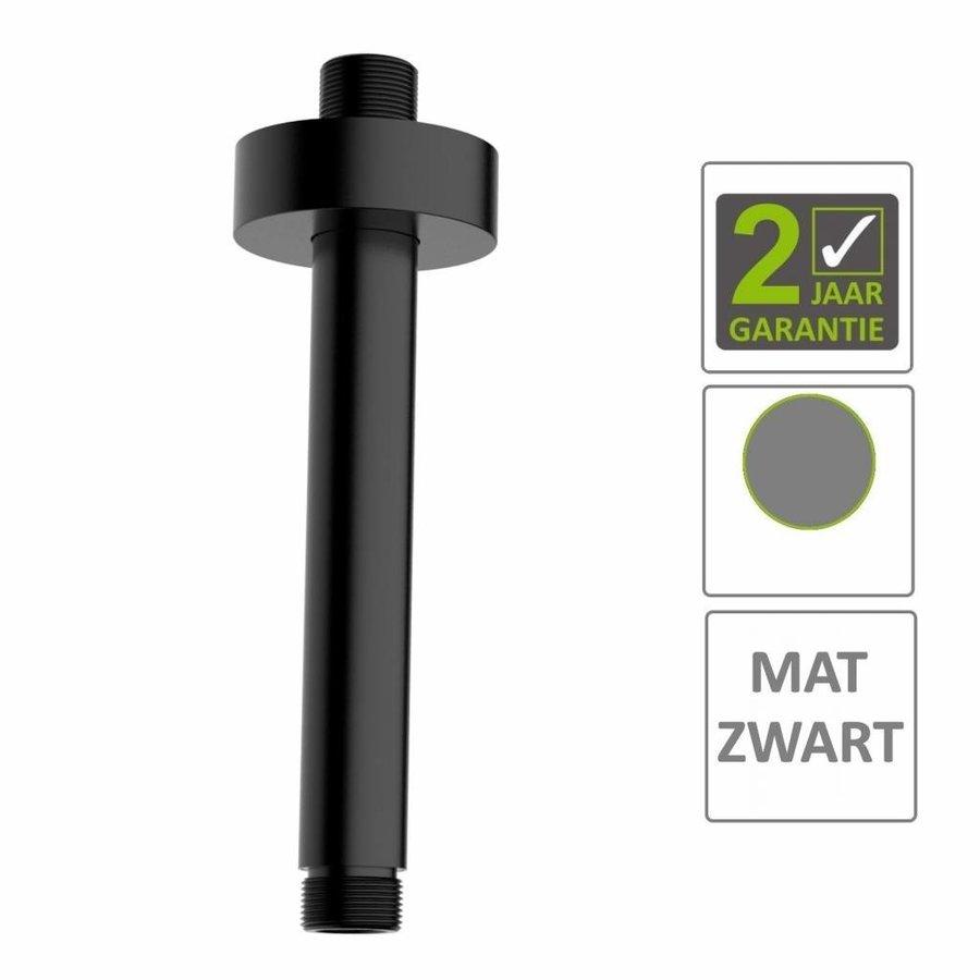 AQS Douche-Arm Luxe Rond Plafondbevestiging 30 cm Mat Zwart