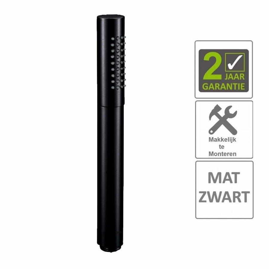 """AQS Handdouche Rond 1/2"""" Messing Mat Zwart"""