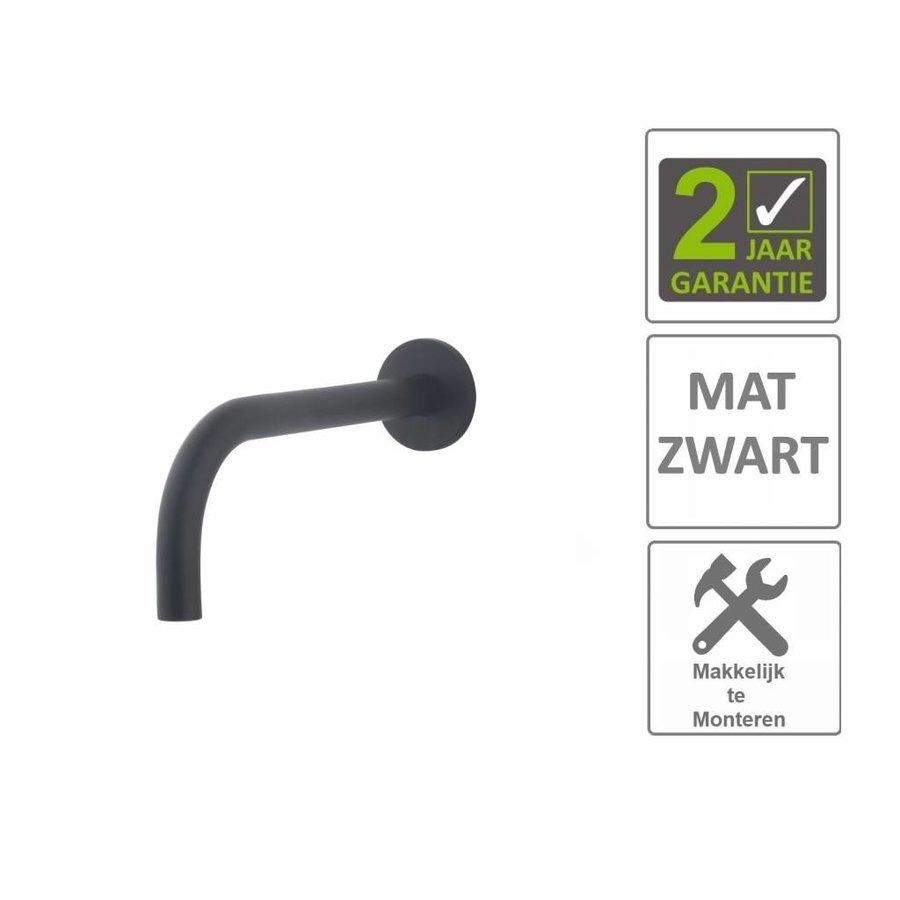 AQS Wastafelkraan Fit Rond 18mm Uitloop 20cm Mat Zwart