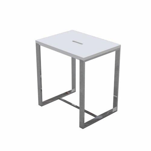 Douchekruk Best Design Solid Steel 43x40x30cm Solid Surface Mat Wit