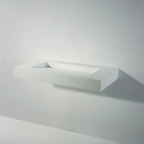 Wastafel Ideavit Solidsquare 90x46x10 cm Solid Surface Mat Wit