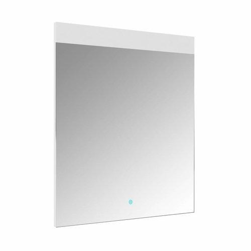 Spiegel Allibert Rei LED Verlichting Bovenzijde 60x70cm Aluminium Rand