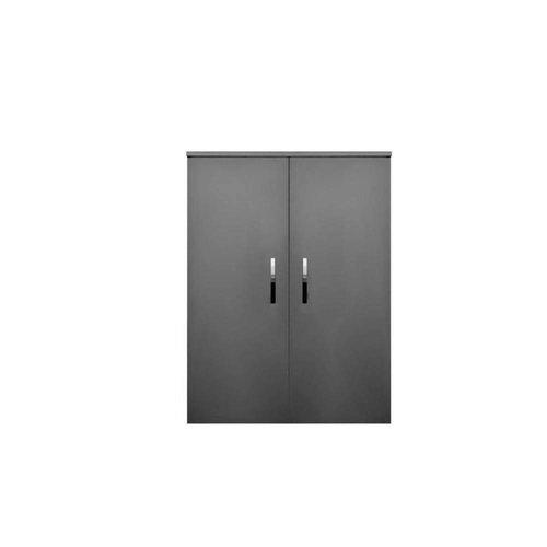 Kolomkast Sanicare Q1/Q12/Q17 2-Deurs Soft-Closing Chromen Greep 90x67x32 cm Grey-Wood