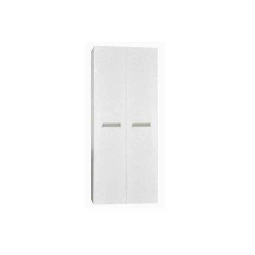 Kolomkast Sanicare Q2/Q3/Q8 2-Deurs Soft-Closing Alu Greep 160x67x32 cm Hoogglans Wit