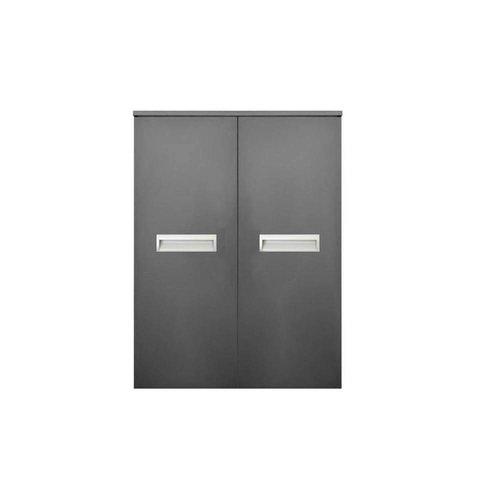Kolomkast Sanicare Q2/Q3/Q8 2-Deurs Soft-Closing Alu Greep 90x67x32 cm Grey-Wood