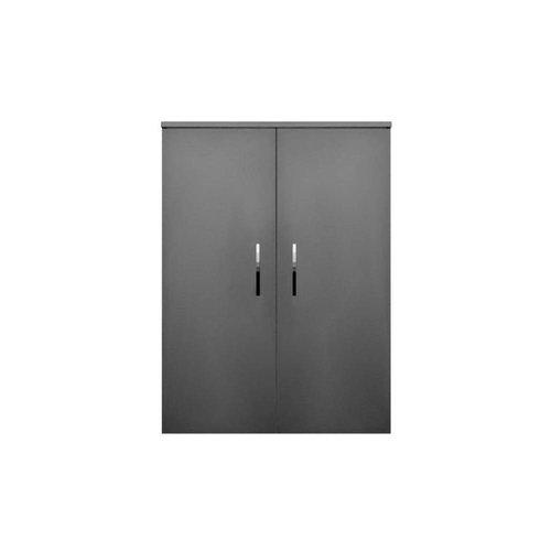 Kolomkast Sanicare Q6/Q14/Q16 2-Deurs Soft-Closing Chromen Greep 90x67x32 cm Grey-Wood