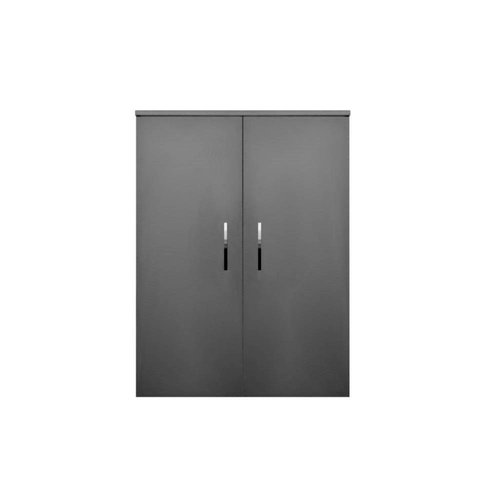 Kolomkast Sanicare Q6/Q14/Q16 2-Deurs Soft-Closing Chromen Greep 90x67x32 cm Hoogglans Wit