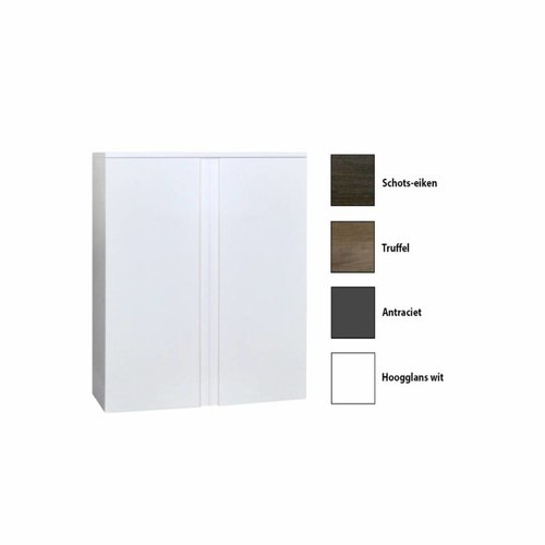 Kolomkast Sanicare Q7 2-Deurs Soft-Closing Greeploos 90x67x32 cm Schots-Eiken