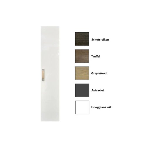 Kolomkast Sanicare Q9/Q10/Q11 Soft-Closing Deur Chromen Greep Inclusief Waszak 160x33,5x32 cm Truffel
