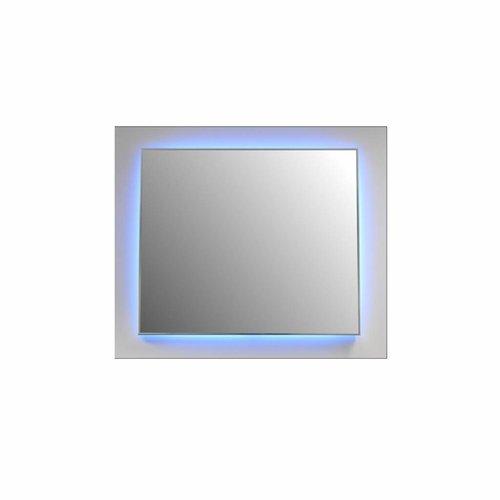 Badkamerspiegel Sanicare Q-Mirrors Ambiance LED-verlichting Rondom Met Afstandsbediening 70x60x3,5 cm Zwarte Omlijsting
