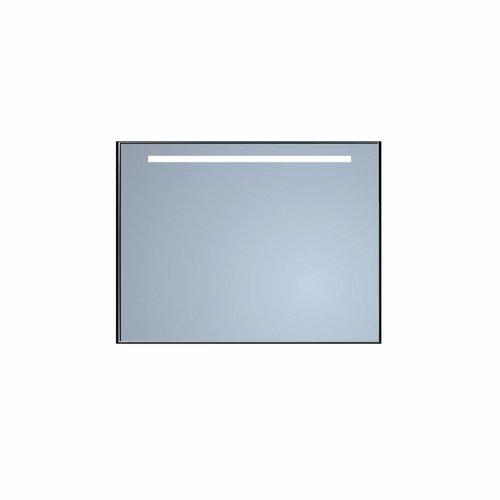 Badkamerspiegel Sanicare Q-Mirrors Met TL-Verlichting 70x70x3,5 cm Zwarte Omlijsting
