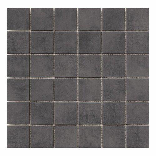 Mozaïektegel Cristacer Pascal Grafito 33.3x33.3cm (Per mat)