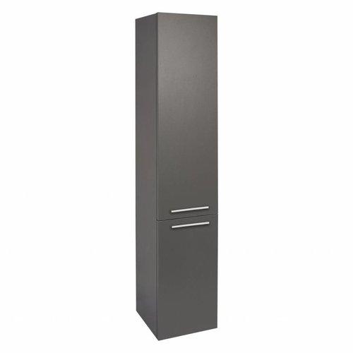 Badkamerkast Differnz Shallow 150x30x25 cm Mat Antraciet (Omkeerbaar)