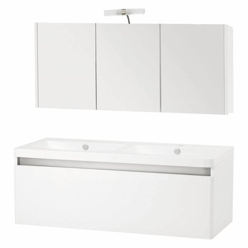Badmeubelset Differnz Shout 120x49x45 cm Wit (Incl verlichting)