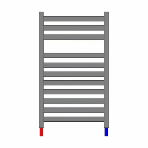 Designradiator Nile Gobi 170x50cm Wit Zij Aansluiting (Links Rechts Aansluiting)