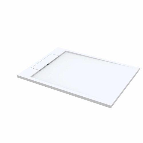 Douchebak Best Design Decent 120x90x3.5 cm Solid Surface Mat Wit
