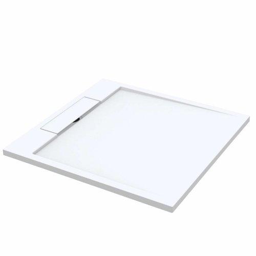 Douchebak Best Design Decent 100x100x3.5 cm Solid Surface Mat Wit