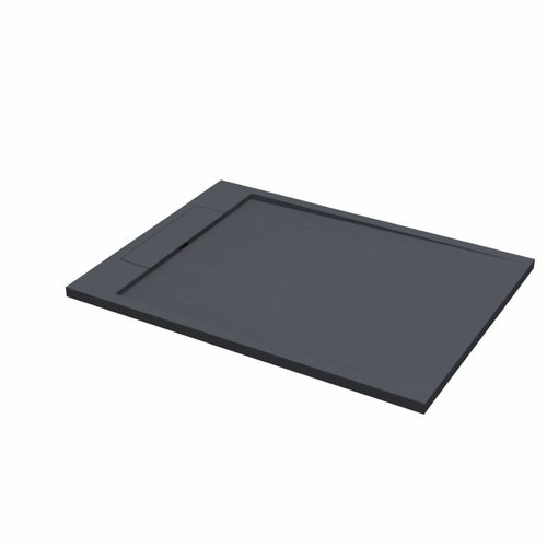 Douchebak Best Design Decent 120x90x3.5 cm Solid Surface Mat Zwart