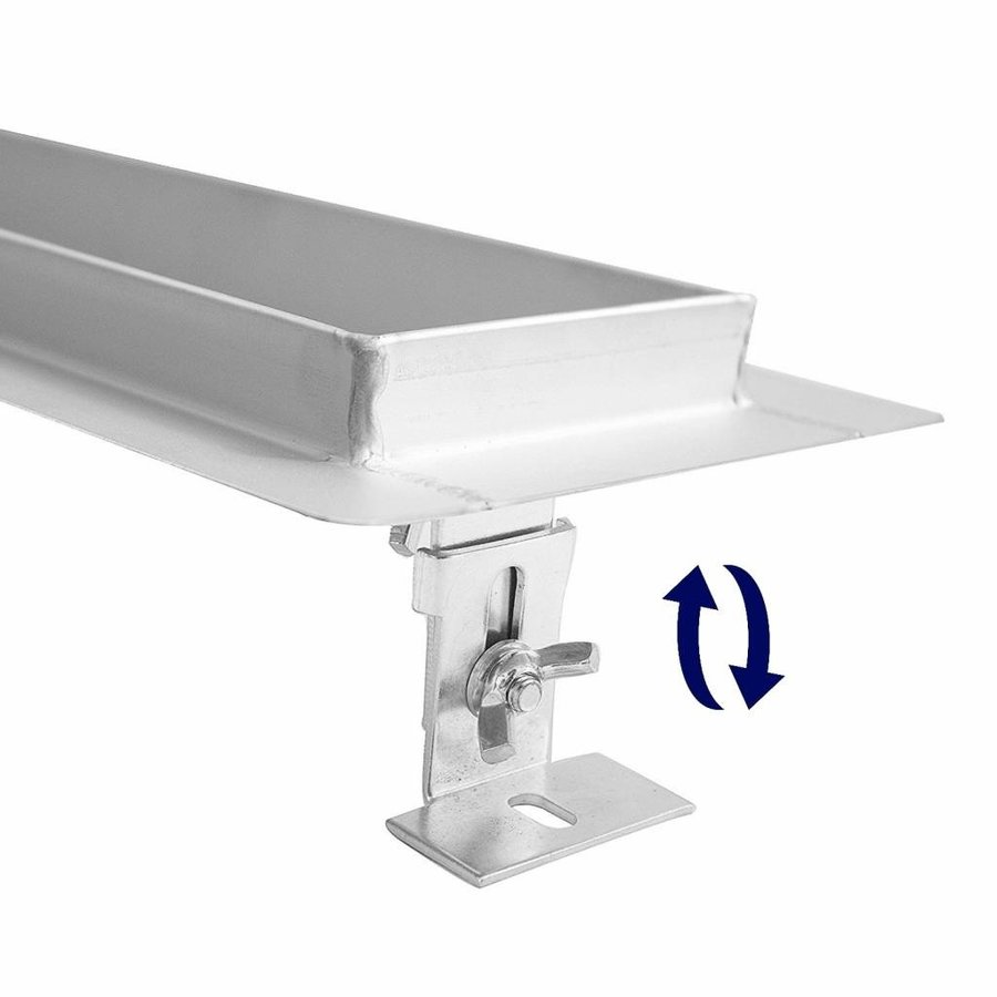 Aqua Splash Douchegoot RVS Met Flens 70 cm Uitneembaar Sifon Standaard Rooster