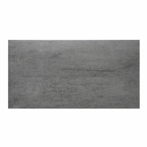 Aktie Vloertegel Maxima Black 30x60cm Grijs (per m2)