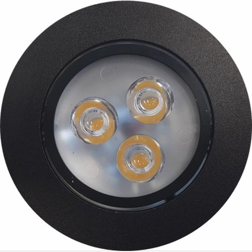 Inbouw Spotlamp Sanimex 85x45 mm Inclusief Armatuur en Gu10 3 Watt Zwart