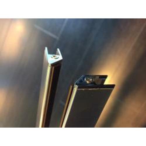 Wiesbaden set magneetstrips 8mm chr. tbv swingdeur+wand