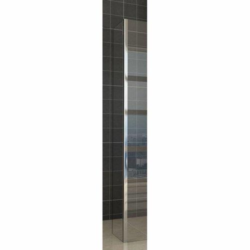 Wiesbaden zijwand + hoekprofiel 400x2000 10mm NANO glas