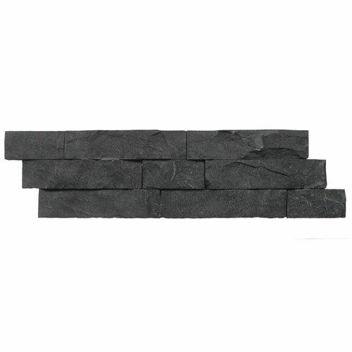 Steenstrips 01 Gray Black Andesite Marmer 15x50 cm (Prijs per M²)