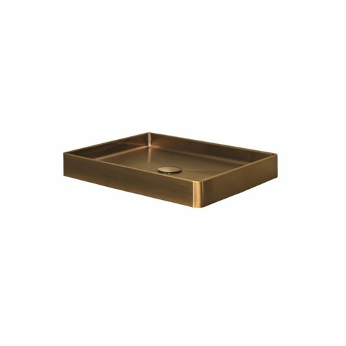 Opzetwastafel Lanesto Vanity 52x41x7 cm RVS Gold