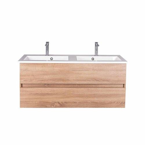 Badmeubel Trendline 120cm Sonoma Oak Softclose (Verschillende wastafels en spiegels mogelijk)
