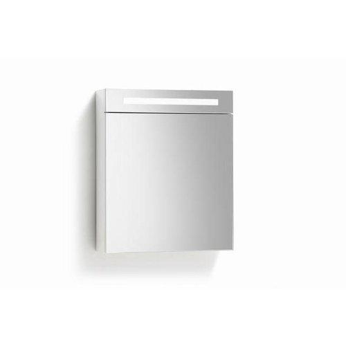 Spiegelkast 60Cm Tl Verlichting & Stopcontact Zwart Wengé